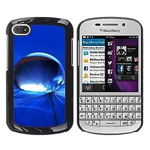 PC/Aluminum Funda Carcasa protectora para BlackBerry Q10 Blue Water Drop 7 / JUSTGO PHONE PROTECTOR