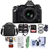 Nikon Df FX-format Digital SLR Camera Kit with AF-S NIKKOR 50mm f/1.8G Special Edition Lens, Black - Bundle with Camera Case, 32GB SDHC Card, 58mm UV Filter, Mac Software Package And More