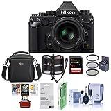 Nikon Df FX-format Digital SLR Camera Kit AF-S NIKKOR 50mm f/1.8G Special Edition Lens, Black - Bundle Camera Case, 32GB SDHC Card, 58mm UV Filter, Mac Software Package More