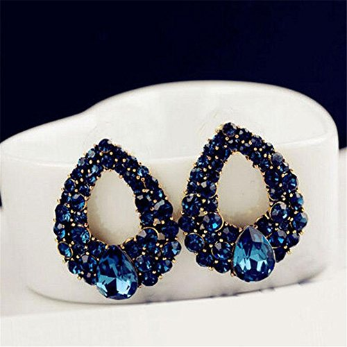 KeyZone Fashion Elegant Rhinestone Earrings
