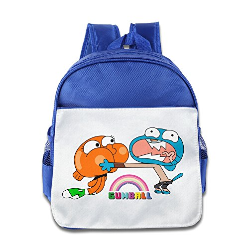 [Boomy The Amazing World Of Gumball Brother School Bag For 3-6 Years Old Childrens RoyalBlue Size One] (Dance Costumes Ma)