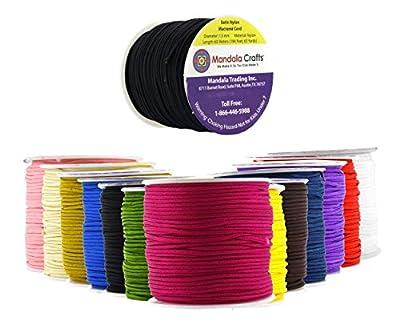 Mandala Crafts® 1.5mm Satin Nylon Macrame Cord for Beading and Knotting