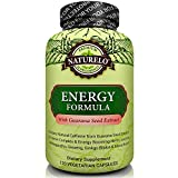 - 51yFIK5ivRL - NATURELO Energy Formula – with B Complex Vitamins, Natural Caffeine, Ginseng, Ashwagandha, Rhodiola, Maca & CoQ10 – Provides Sustained Energy Boost – Non GMO – 120 Capsules