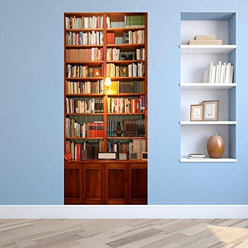 LWCX Decorative Waterproofing Door Sticker Creative Bedroom by LWCX