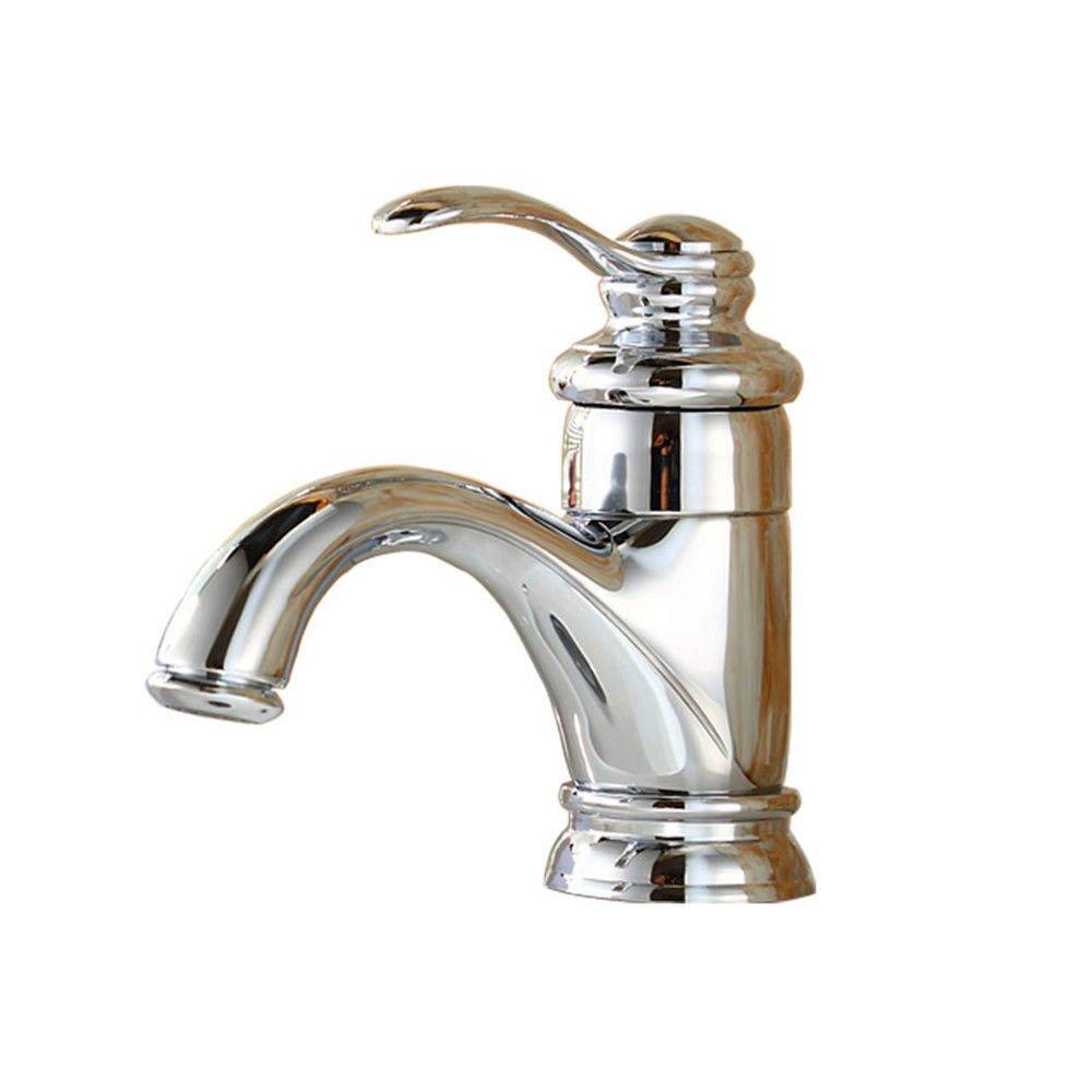 MEIBATH Waschtischarmatur Badezimmer Waschbecken Wasserhahn Küchenarmaturen Messing verchromt Warmes und Kaltes Wasser Küchen Wasserhahn Badarmatur