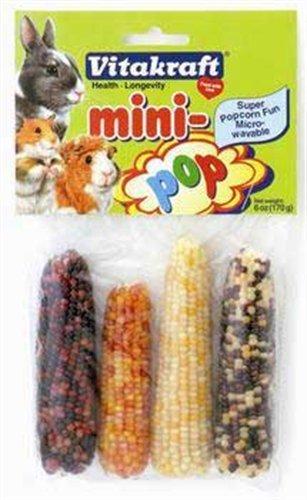 Vitakraft Small Animal Mini Pop Indian Corn, 6-Ounce Bag, My Pet Supplies