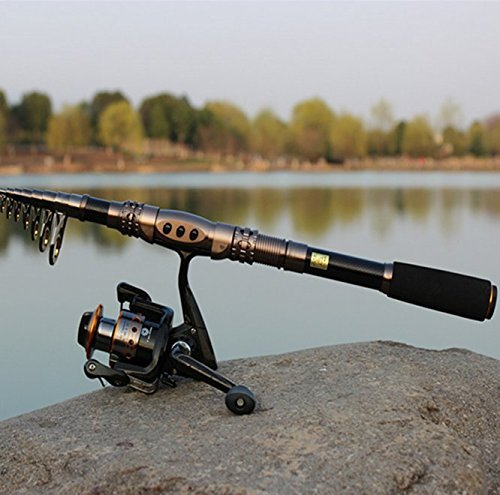 Geelife Hot Selling Carbon Fiber Fishing Rods Telescopic Super Hard Portable Fishing Pole for Boat Sea Saltwater Freshwater (3.3M 10.82Ft)