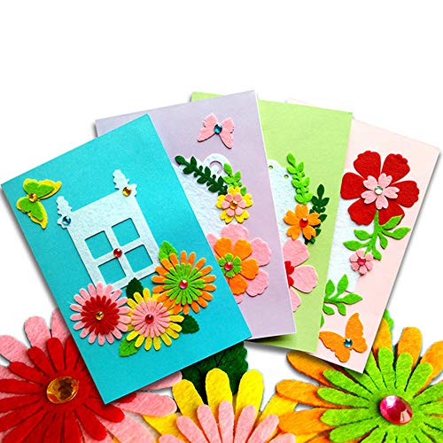 Card Making Kits DIY Handmade Greeting Card Kits for Kids, Christmas Card Folded Cards and Matching Envelopes Thank You Card Art Crafts Crafty Set Gifts for Girls Boys -