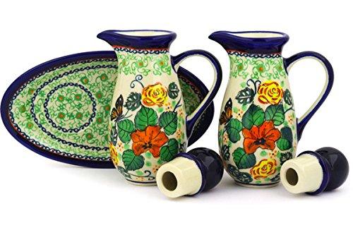 Polish Pottery Seasoning Set 7-inch Butterfly Meadow UNIKAT by Polmedia Polish Pottery (Image #3)