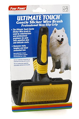 (Four Paws Ultimate Touch Large Dog Grooming Gentle Slicker)