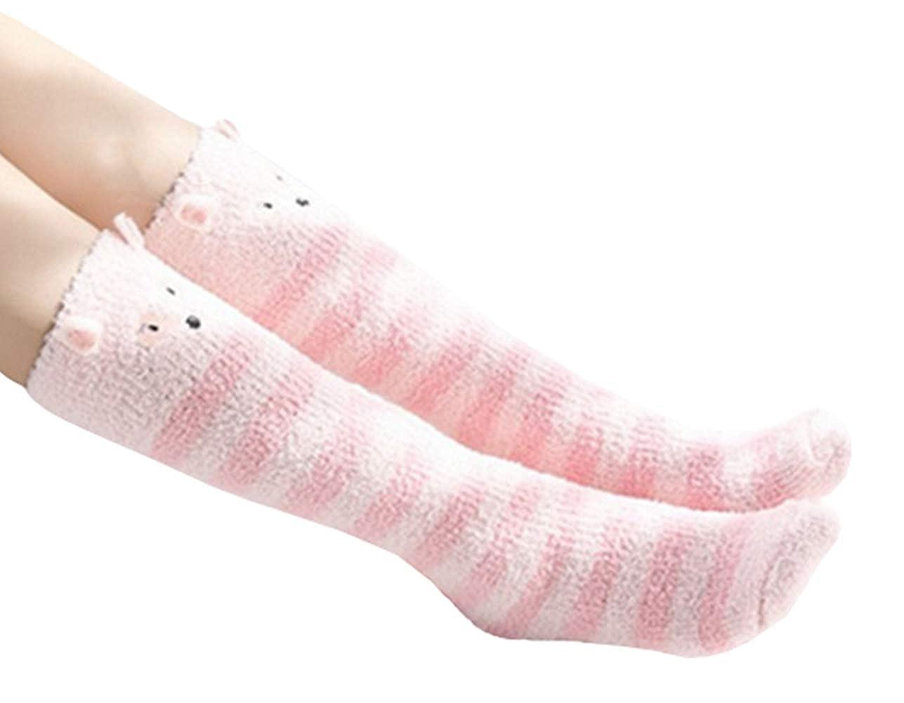 VISGOGO Baby Kids /& Adult Anti-Slip Knee High Long Socks Cute Animal Stockings