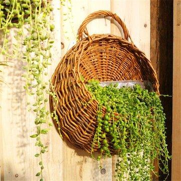 Flower Planter Wall Hanging Basket Ornamental Vases Garden Outdoor Indoor Holder Home Decoration - Ornamental vases & Artificial Flowers Vases - 1 x Hanging Flower Basket(not include planter) -