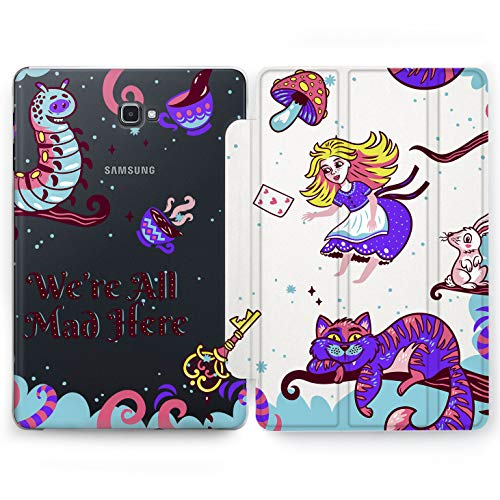 Wonder Wild Alice in Wonderland Samsung Galaxy Tab S4 S2 S3 Stand Case 2015 2016 2017 2018 Tablet Cover 8 9.6 9.7 10 10.1 10.5 Inch Cartoon for Kids Protector -