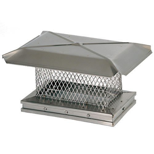 13'' x 13'' Gelco Stainless Steel Chimney Cap - 5/8'' Mesh by Copperfield Chimney Supply 13307