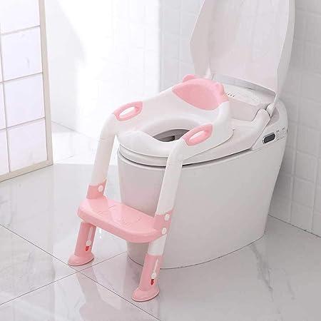 El Bebé Plegable Kid Insignificante del Asiento De Entrenamiento Infantil WC con Escalera Ajustable Asientos Portátiles Urinario Entrenamiento Insignificante For Niños Zzib (Color : N1): Amazon.es: Hogar