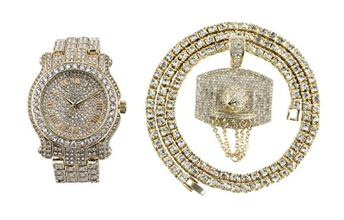 Iced out Watch (Gold)