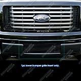 APS F66789H Black Powder Coated Aluminum Billet Grille Bolt Over for select Ford F-150 Models