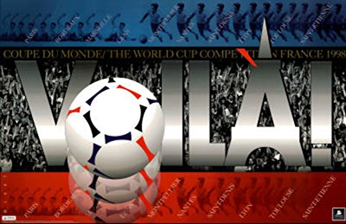 1998 World Cup Soccer France Voila Crowd Scene Poster 22 x 34in