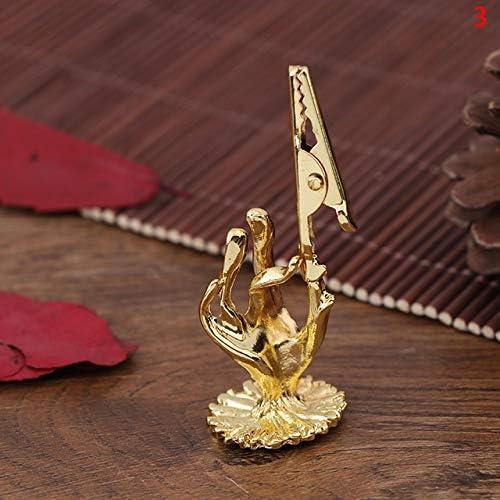 ZHAO Golden wierookbrander Holder Populaire HighGrade Hand van Boedha Lotus Incense Clip Religieuze Vergulde Wierook Clip Decor van het Huis Color3