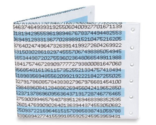 Dynomighty Men's Dot Matrix Pi Mighty Wallet - Super Thin Lightweight Tyvek Billfold