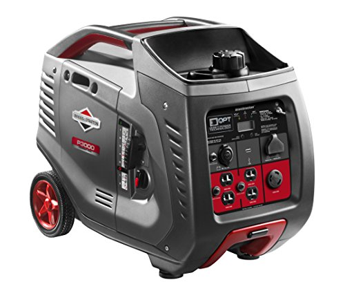 Briggs & Stratton P3000 PowerSmart Series Inverter Generator with LCD Display and Quiet Power Technology, 3000 Starting Watts 2600 Running Watts, RV Ready