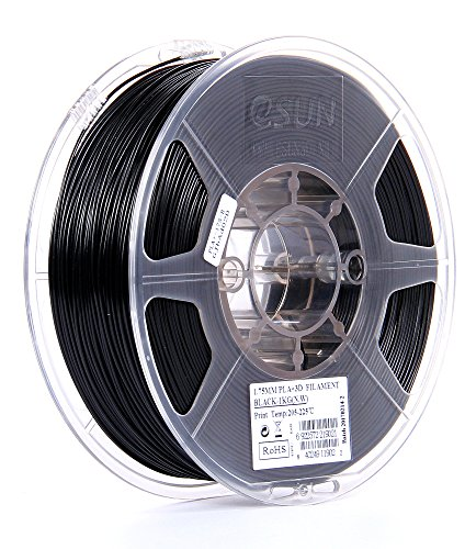 eSUN 1.75mm Black PLA PRO (PLA+) 3D Printer Filament 1KG Spool (2.2lbs), Black by eSUN
