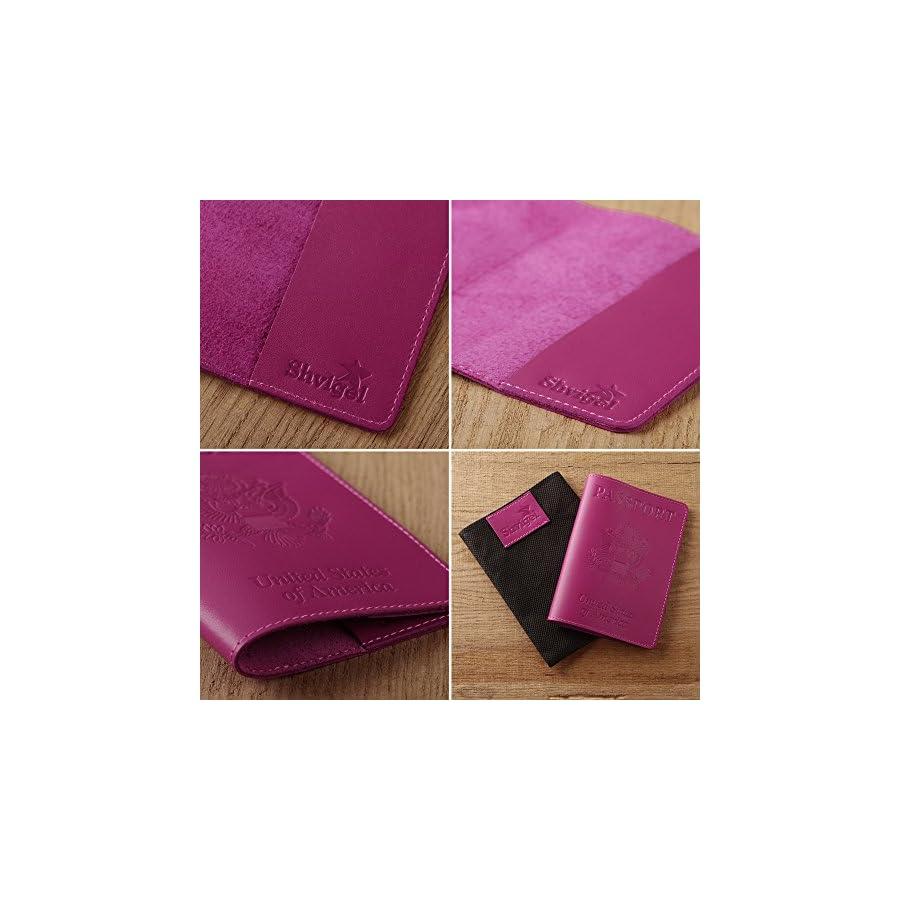 Shvigel Leather Passport Cover Holder for Men & Women Passport Case (Pink)