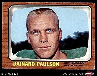1966 Topps   97 Dainard Paulson New York Jets (Football Card) Dean s Cards 4 f19516729