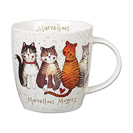 Alex Clark Squash Taza Gatos magnífico Moggies, cerámica, Multi/Colour, 9,5 x 9,5 x 10 cm: Amazon.es: Hogar