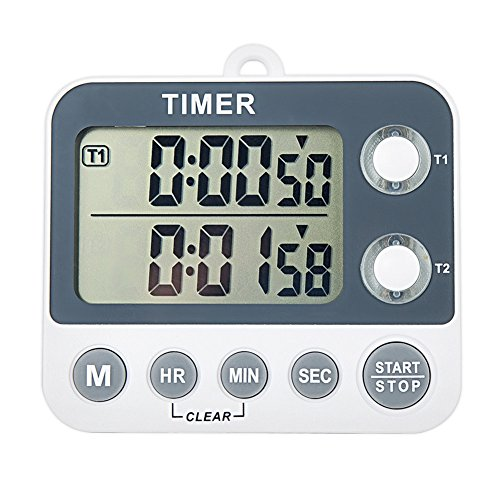 Aimilar Digital Kitchen Countdown Timer Magnetic Large Screen Clock 2 Channel Groups 99 hours Laboratory (Hour Kitchen Timers compare prices)