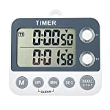 Aimilar Digital Kitchen Timer Magnetic Large Screen Countdown Timer Clock 2 Channel Groups 99 hours Laboratory