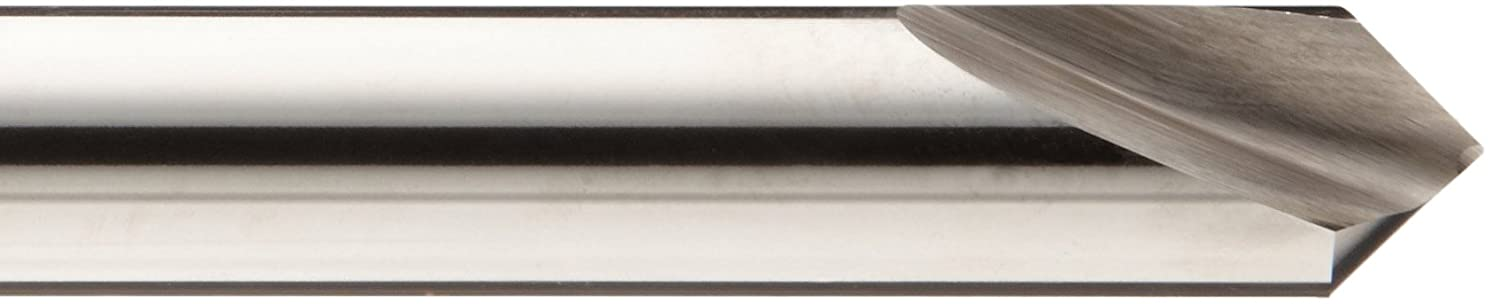 0.472 Cutting Length 6-3//4Long Cobalt Steel Uncoated 90 Degrees Cutting Angle Combination Spotting Drill And Countersink Bit Magafor 1971200 197 Series 2 Flute Bright