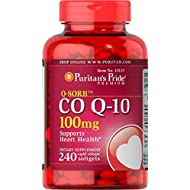 Puritan's Pride Q-SORB CoQ10 100 mg, Supports Heart Health**, Important for Statin Medication Users++, 240 Rapid Release Softgels