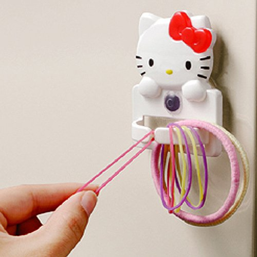 Hello Kitty Rubber Band Holder Case Container Elastic Hair Ponytai Braiding Loom from Hello Kitty