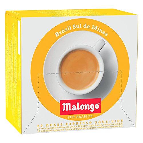 Café Malongo Café Pods Brasil Sul de Minas, 125 g