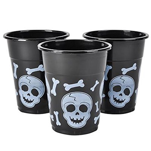 Halloween Black White Skull Plastic