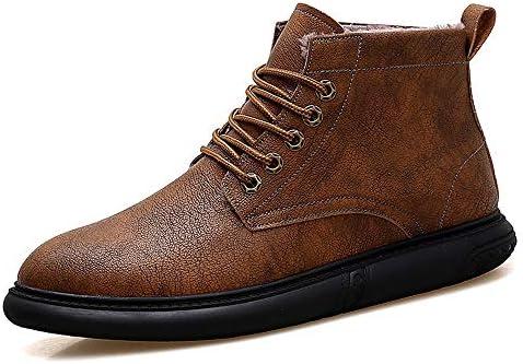 古典的な男性のファッション足首作業ブーツカジュアル契約快適な冬のフェイクフリース内側ハイトップブーツ 快適な男性のために設計