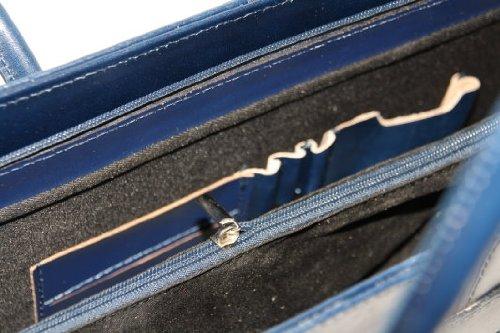 fashion-formel - Bolso al hombro de cuero para mujer azul - Dunkelblauu