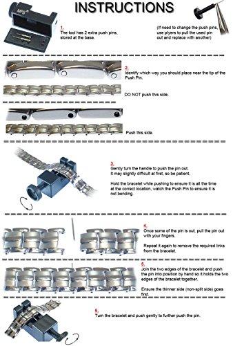 MPS® Titane bracelet magnétique avec boucle déployante et des aimants puissants, 3000 gauss chacun. Avec outil gratuit pour enlever liens.