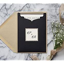 Personalized Elegant Formal Wedding Invitations with RSVP in holder, Classy Invites, Brittney Sample
