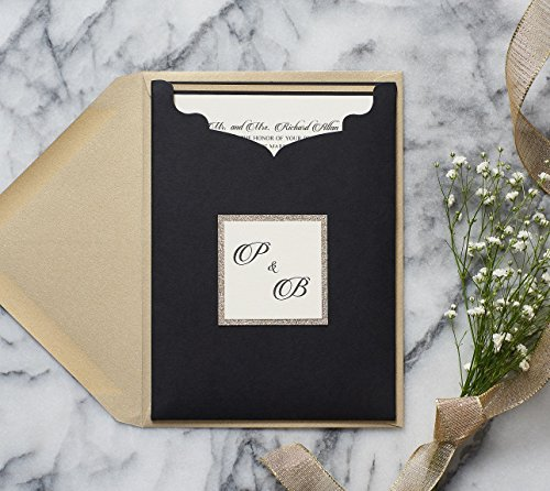 Personalized Elegant Formal Wedding Invitations with RSVP in