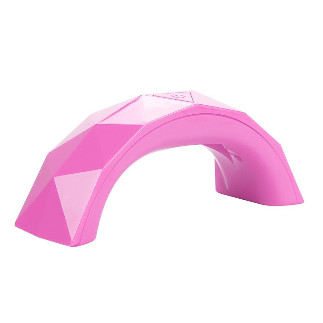 Dolloress Nail Tips⭐15X4.7X6cm USB Charging Plastic Hot Pink 9W UV Lamp Light Nail Dryer Manicure Gel With Timer