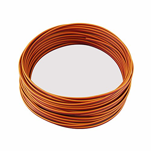 OliYin 50 feet Servo JR Color Extension Cable 3p Line Futaba JR Aircraft Model Wire 30 cores 0.08mm (Control Line Wire)