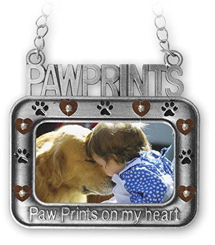 Banberry Pet Memorial Photo Ornament - Paw Prints on my H...