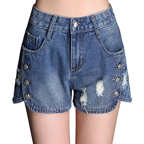 Wxian Women's Casual Comfortable Denim Shorts