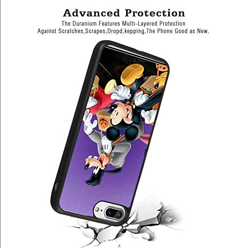 Matte Corner Case Fits for iPhone 7 Plus/iPhone 8 Plus 5.5 Inch Halloween Mickey Mouse and Minnie Mouse Goofy Donald Duck Pluto Disney Halloween Wallpaper]()