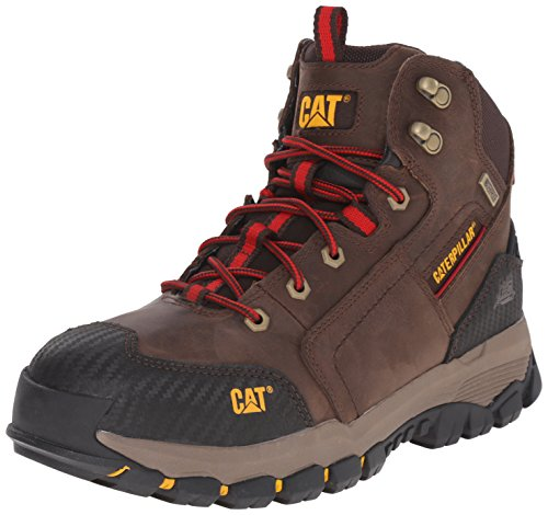 Caterpillar Men's Navigator Mid Waterproof Work 6 Inch Waterproof Soft Toe, Clay, 8.5 M US (Caterpillar Mens Navigator Wp Work Oxfordeel Toe)