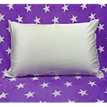 Soft Silker 100% Pure Mulberry Silk Pillowcase 19 Momme with Underside Satin,Queen,White
