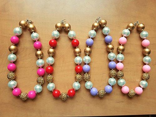 Princess Bubblegum Outfits (LMC Set of 4 Princess Theme Handmade Bubblegum Necklace Gift Set)