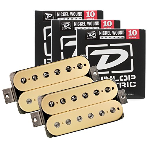 aster Humbucker Pickup Set Cream w/ 3 Sets of Strings ()
